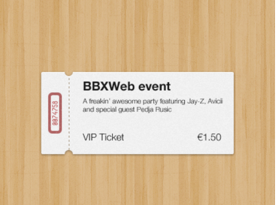 Freebie Ticket Mockup