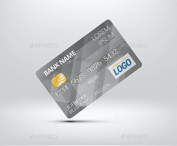 Plastic Bank Card Preview Template