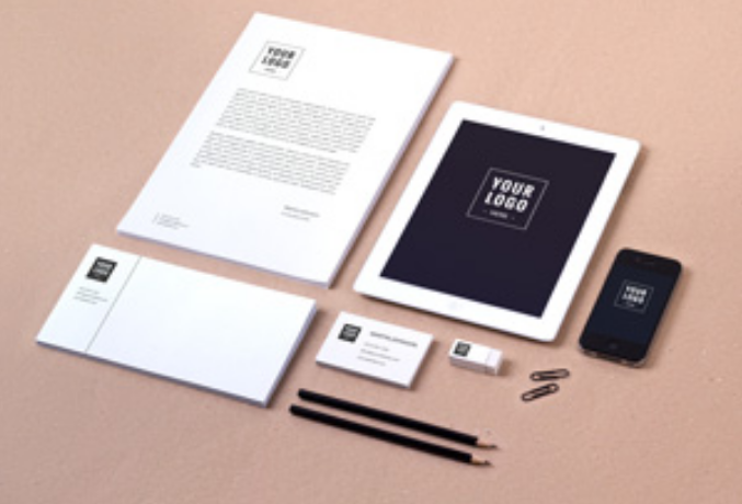 Pencil and Stationery Mockup PSDPencil and Stationery Mockup PSD