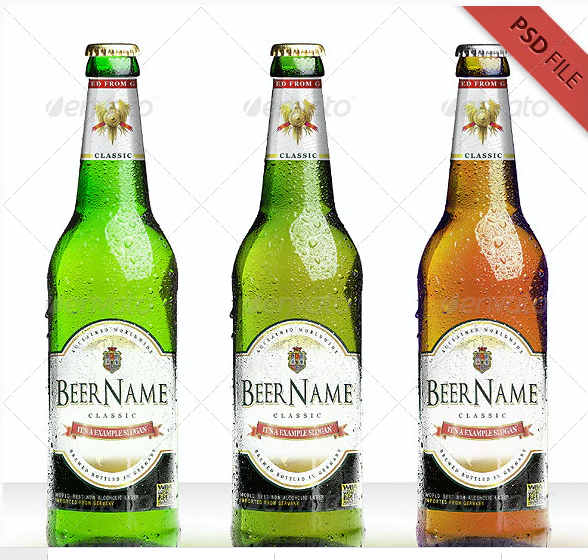 Coloured Beer Bottles: