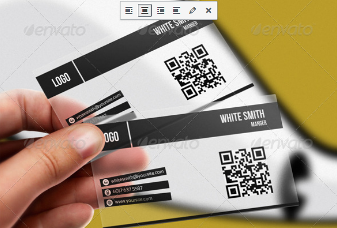 Transparent Plastic Card With Bar Code PSD Template.