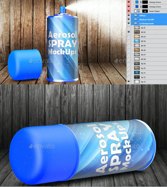 Color Spray Can Template Design