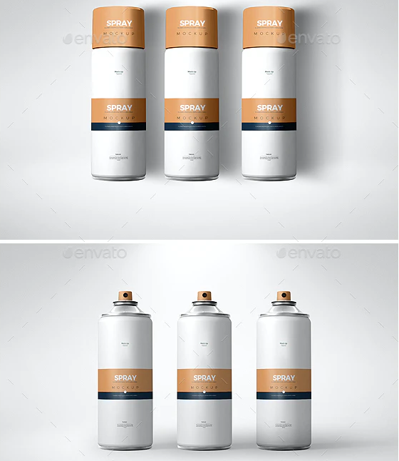 Tin Can Spray Bottle Mockup