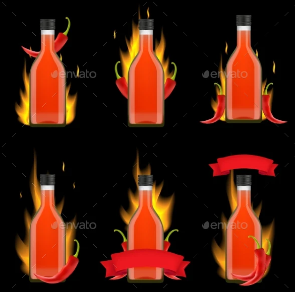 Tabasco Sauce Bottle Package Vector Realistic