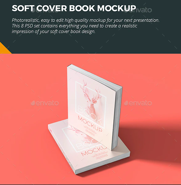 Soft Cover Book Mockup