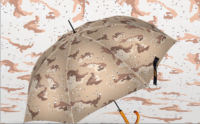 Military Printed Umbrella PSD Template.