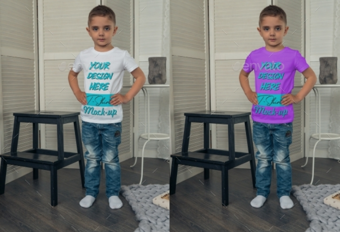 10 PSD File Of A Boy In White Shirt Mockup.