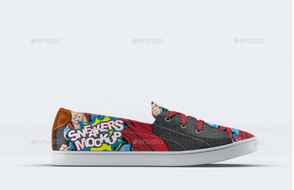 PSD File Of Sneaker Shoes Mockup