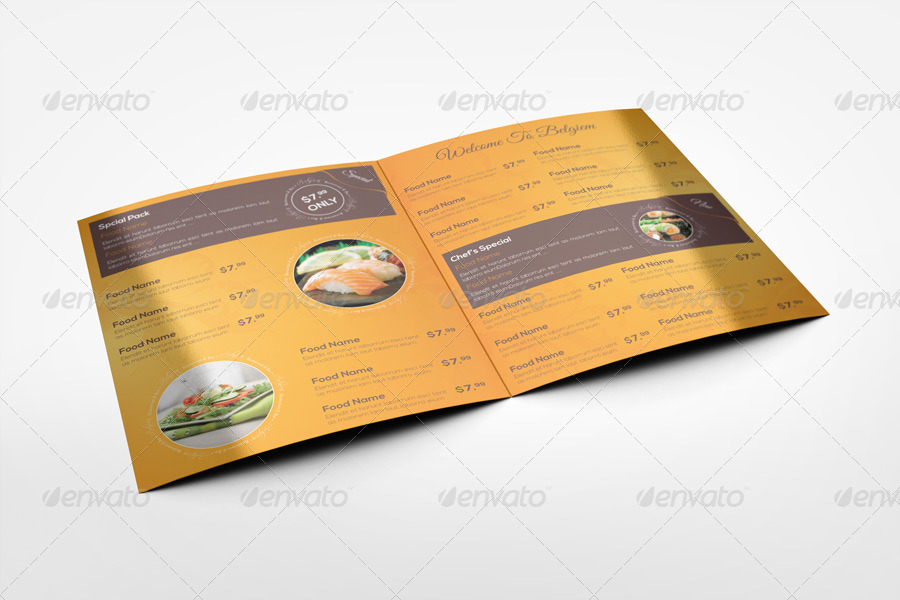 Stylish Menu Card Mockup
