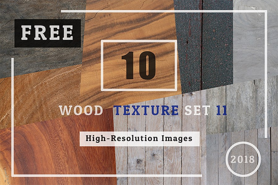 10 Wooden Texture Design Set Mockup