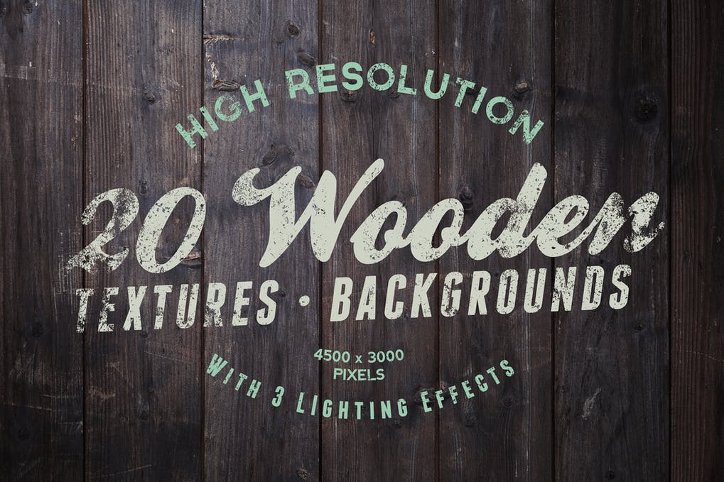 20 Wooden Texture And Backgrounds Mockup With Lightning Effect