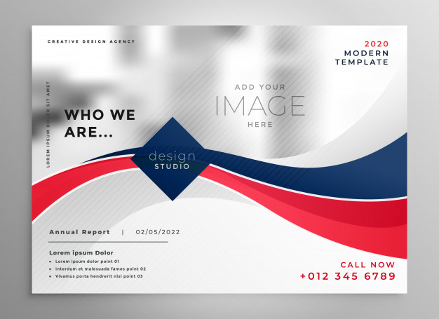 2020 Annual Report A5 Flyer Vector Image