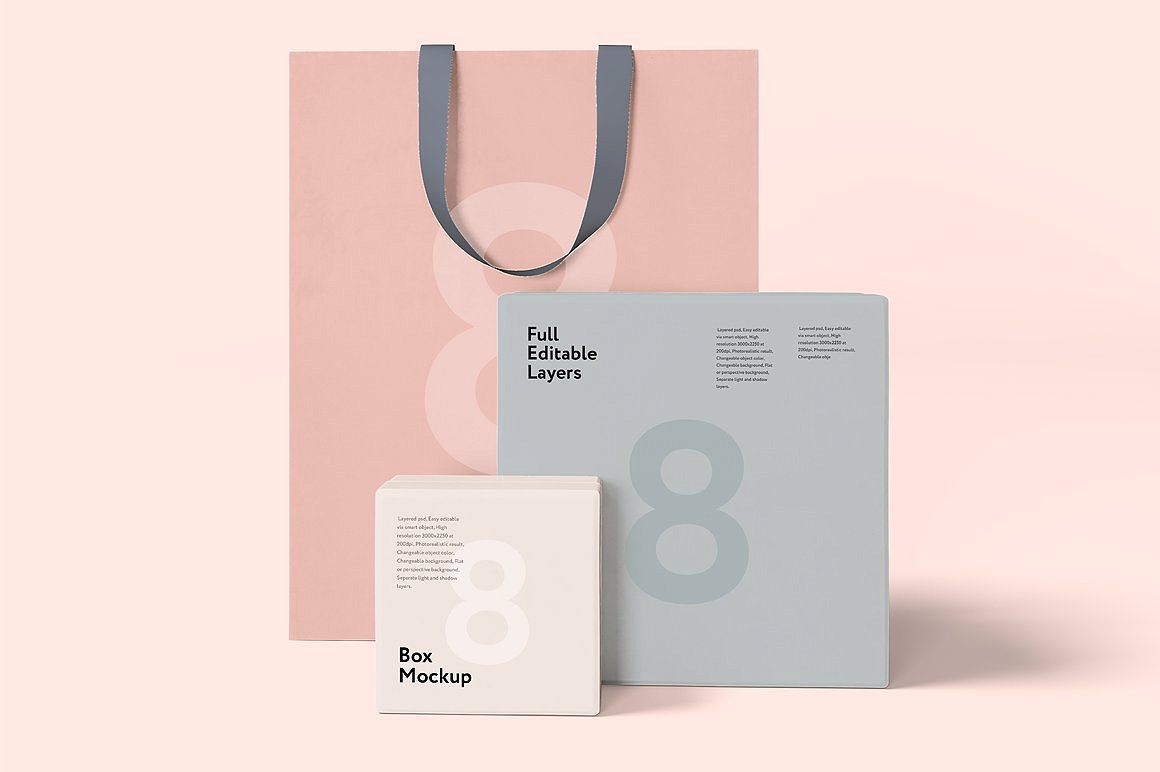 3 PSD Fully Editable Layer Shopping Bag Mockup