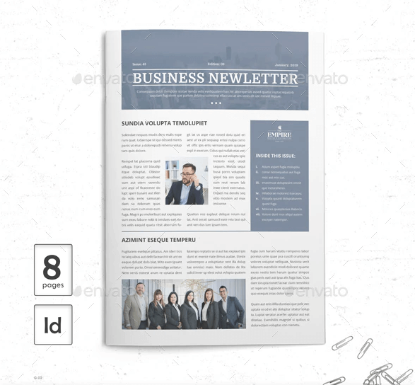 8 Page Newsletter PSD File