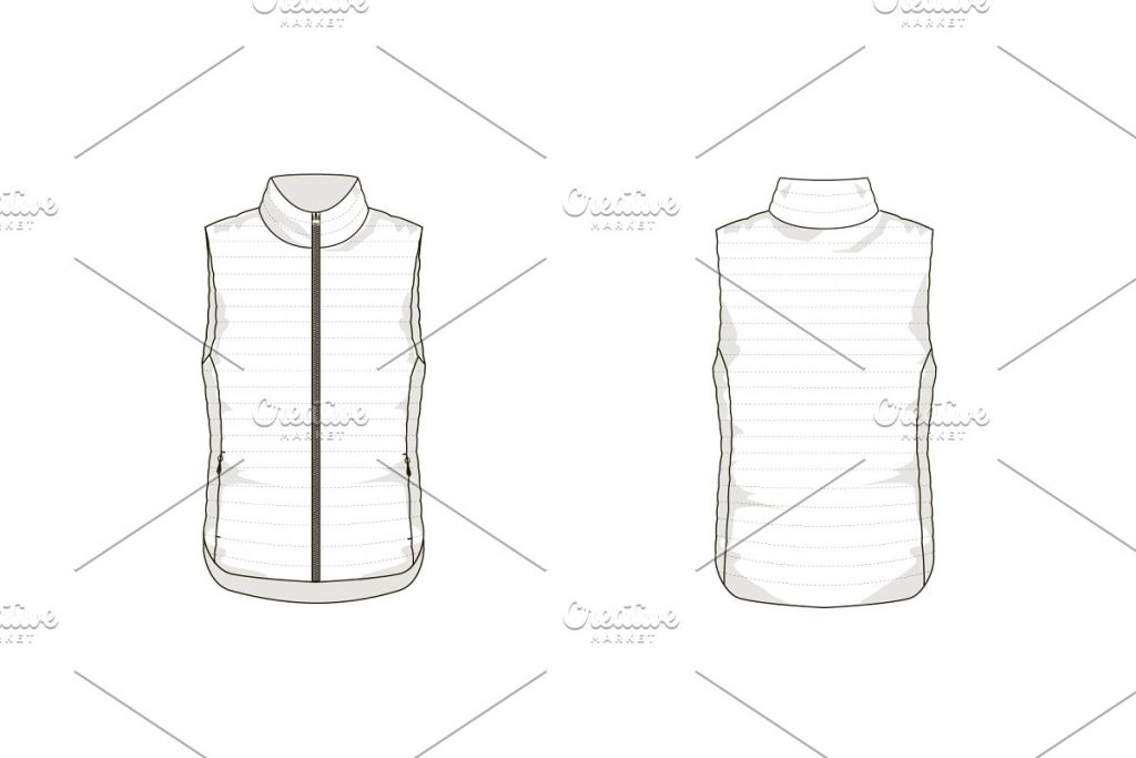 A Template Of LightDown Vest.