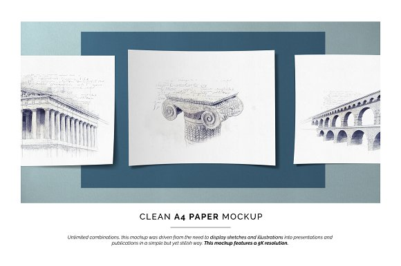 A4 Painting Paper Mockup