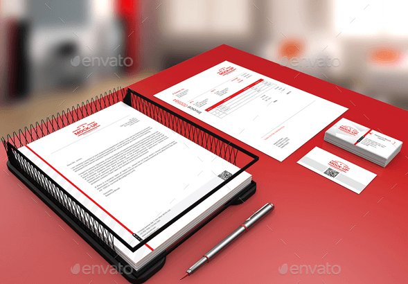 A4 Paper With Business Card