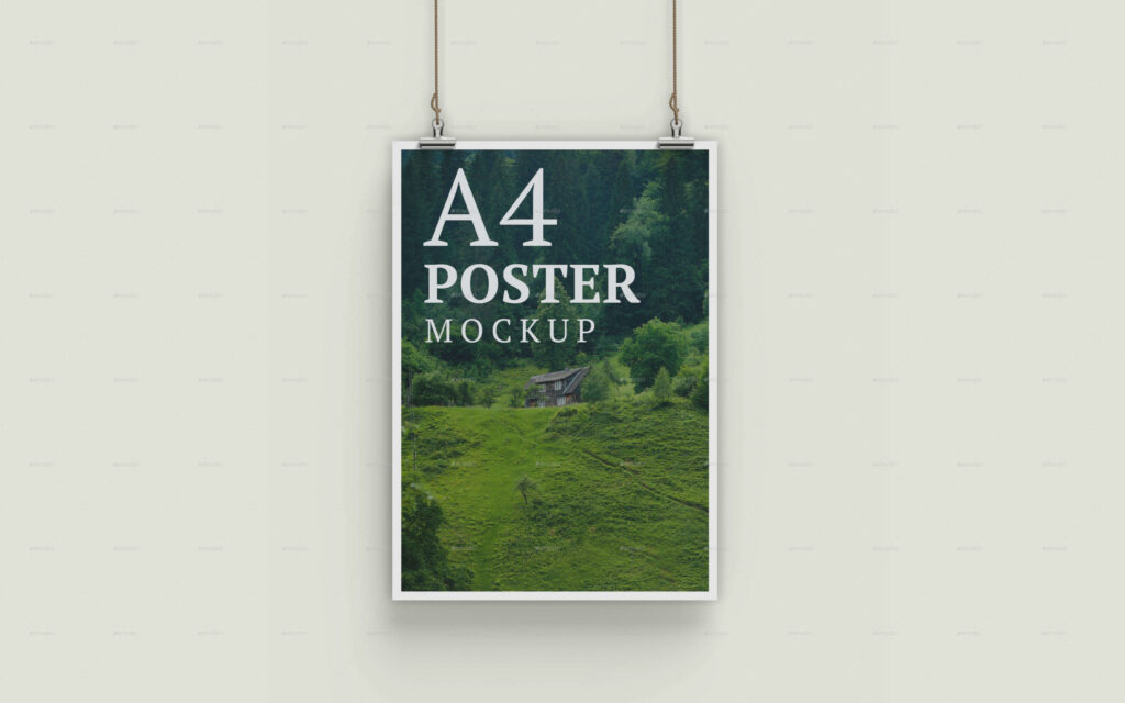 A4 Poster Mockup - 10 PSD Files
