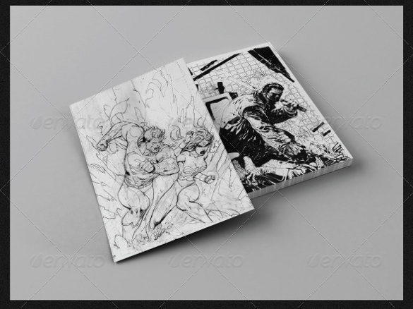 A4 Realistic Sketched Paper Template