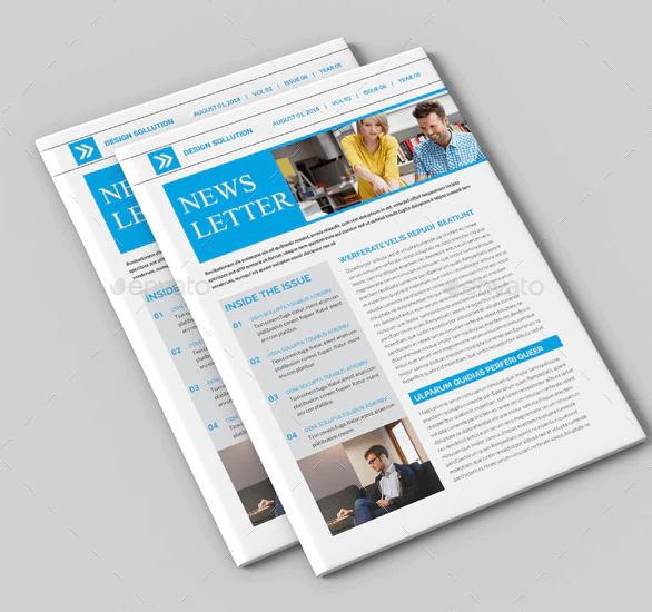 A4 Size Newsletter Template Mockup