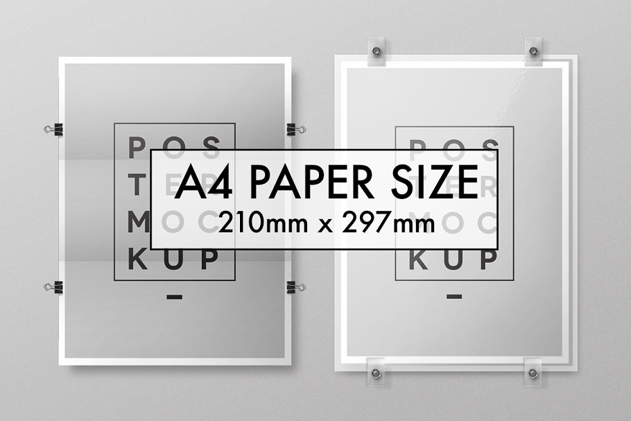 A4 Size Paper Size Poster Illustration