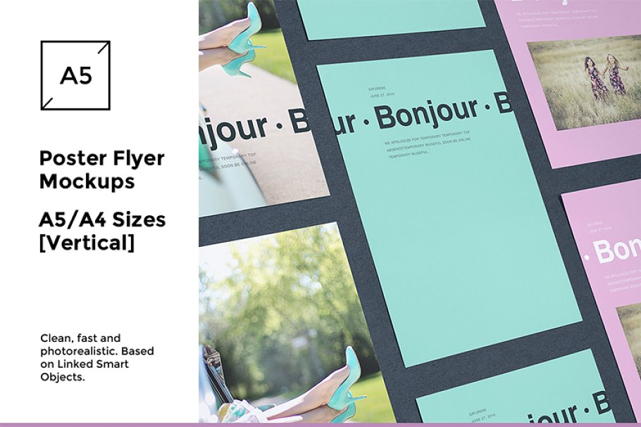 A5 And A4 Size Poster Flyer Mockup