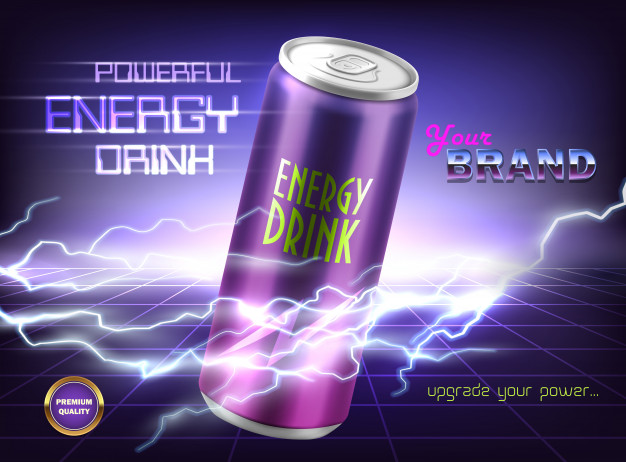 Advertise your Energy Drink Vector