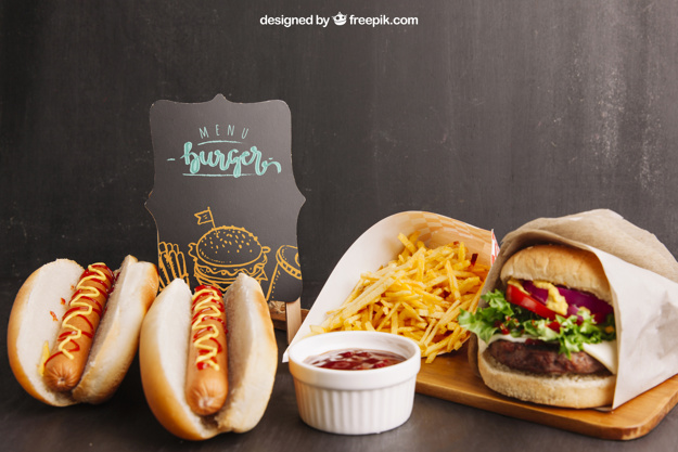 Another view of Fast Food PSD Branding Design Template