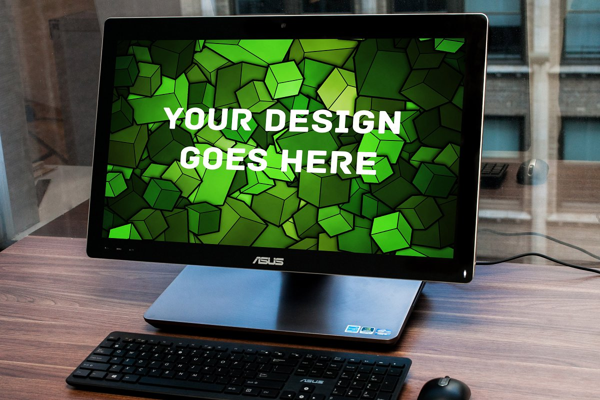 Asus Windows PC Display Mockup.
