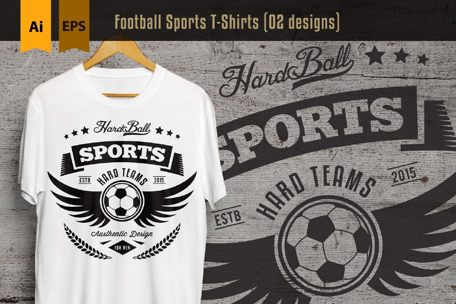 Attractive White Color Sports T-Shirt Hanged Mockup