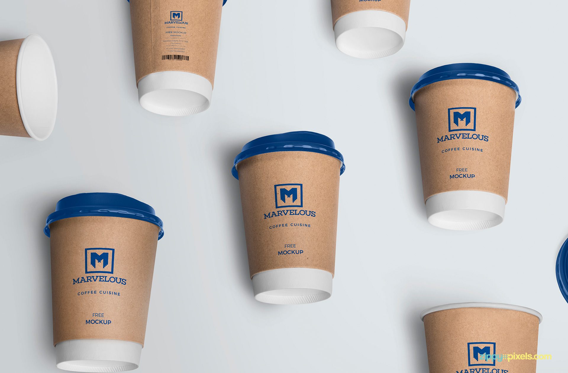 Awesome Card Board Cup Mockup