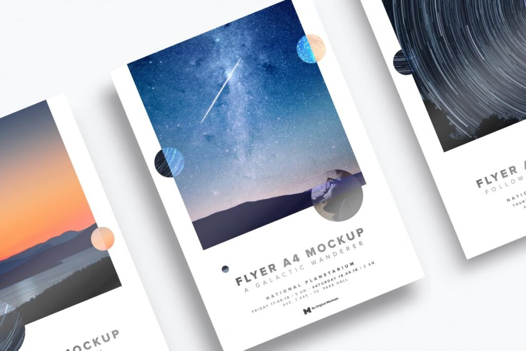 Awesome Landscape Printed Flyer Mockup