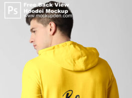 Free Back View Hoodie Mockup PSd Template