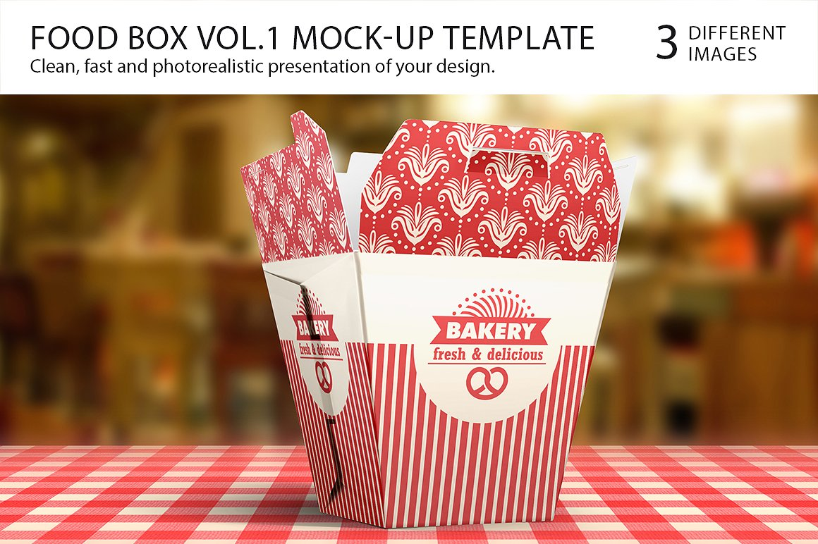 Bakery Food Box Template