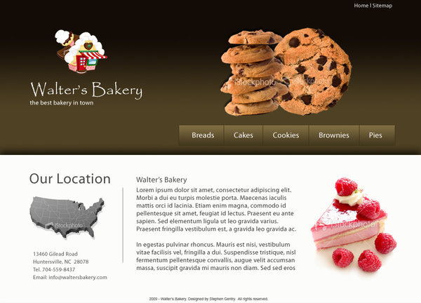 Bakery Website PSD Design template