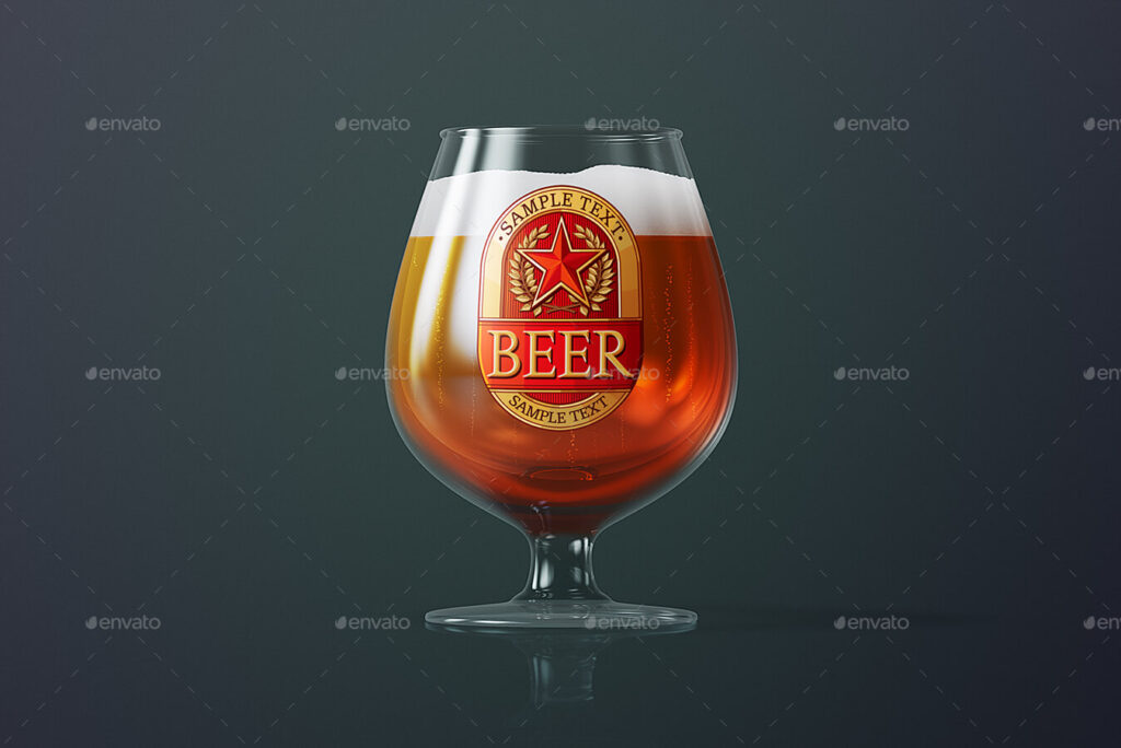Beer Glass Mock-up - Snifter