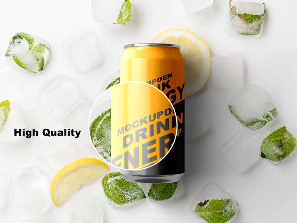 Free Beverage Tin Can Mockup PSD Template
