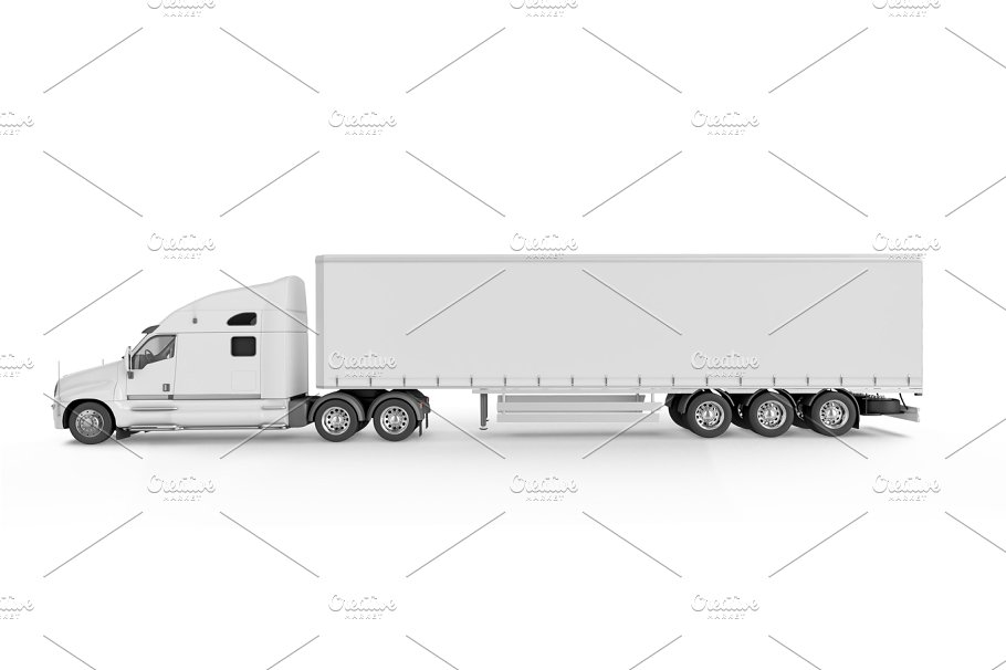 Big Clean and Simple Design Truck Mockup.