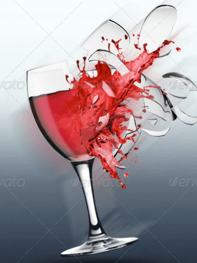Big Wine Glass Illustration Mockup