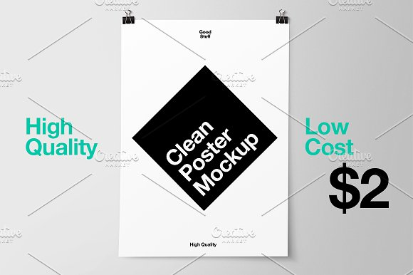 Black And White Color Poster Template