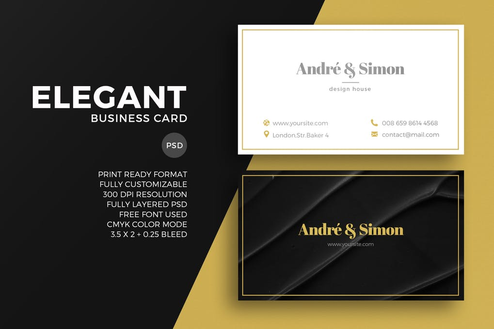 Black And White Elegant Business Card