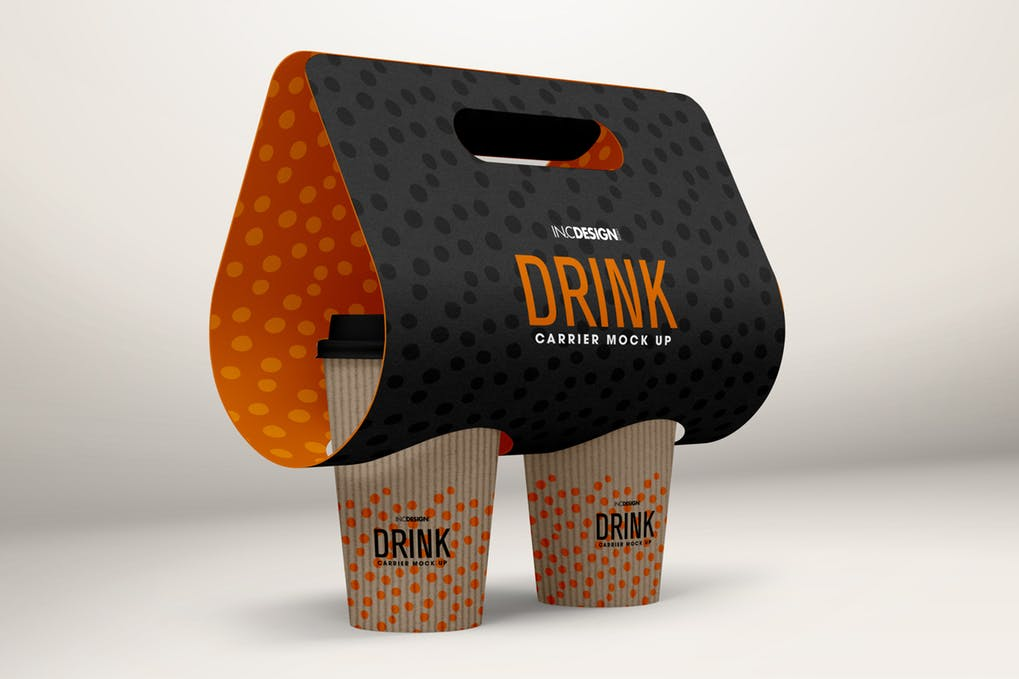 Black Coffee Drink Packaging Cup Mockup
