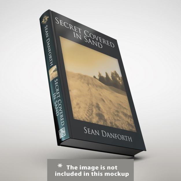 Black Cover Book Cover PSD