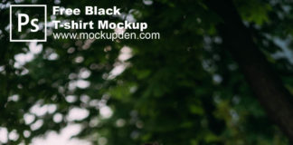 Free Black T-Shirt Mockup PSD Template