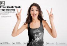 Free Black Tank Top Mockup PSD Template