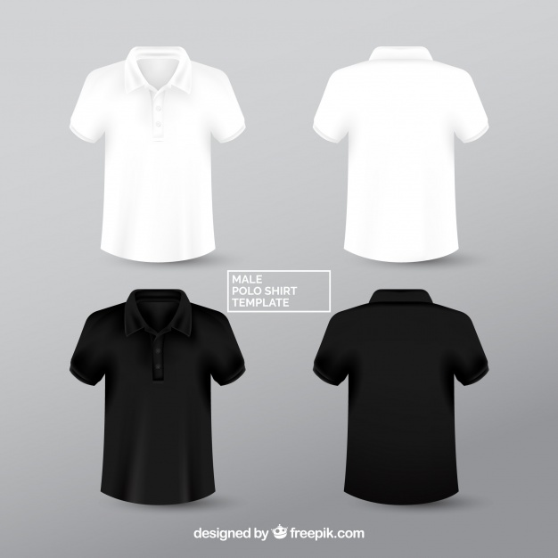 Black & White Polo Sweatshirt Vector Design