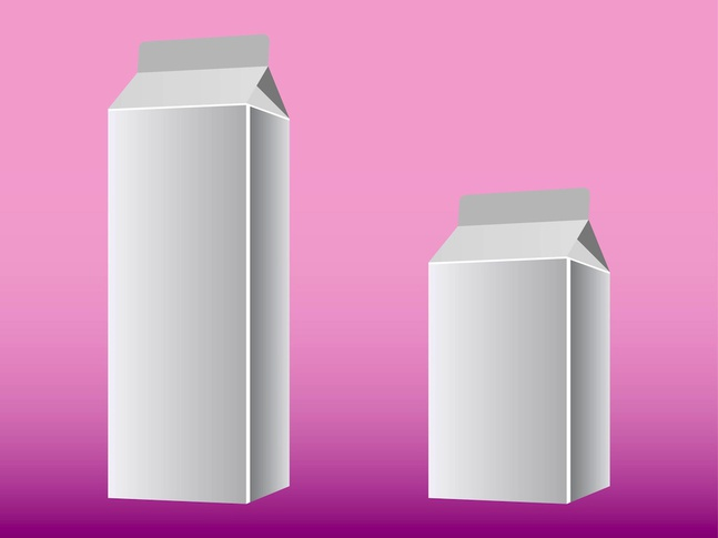 Blank Milk Box With Clean Background