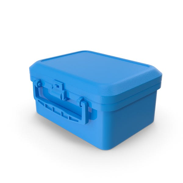 Blue Color Simple Lunch Box Vector