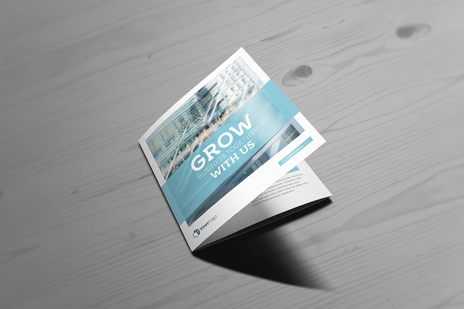 Booklet On Wooden Table PSD Design