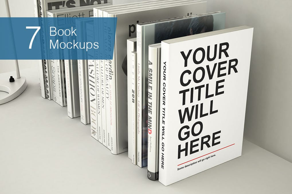 Books With Different Poses Mockup